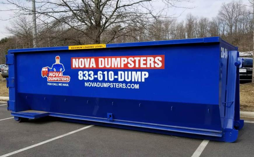 Dumpsters for rent in Haymarket, Virginia.