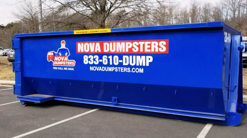 Nova Dumpsters for rent in Oakton, Virginia.